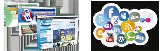 redes sociais vs sites